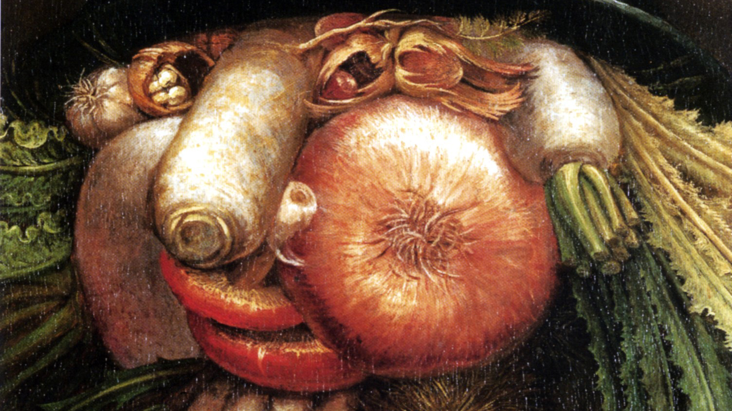 Giuseppe Arcimboldo - Portrait with Vegetables (The Green Grocer)